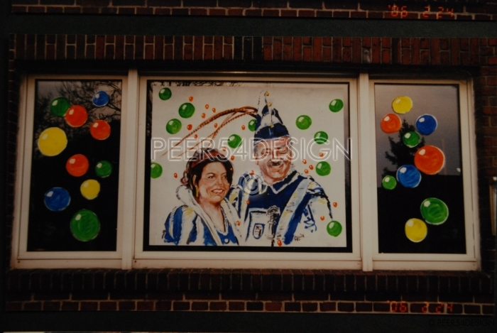 raamdecoratie carnaval peer 54 design